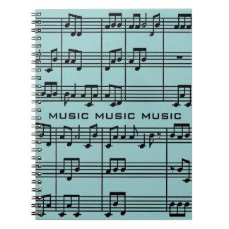 Cuaderno de la partitura musical