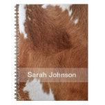 Cuaderno de la piel de la vaca