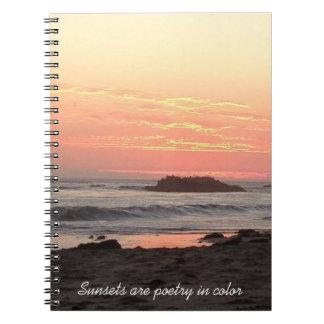 Cuaderno de la poesía de la puesta del sol