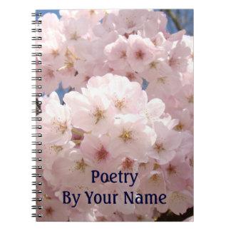 Cuaderno de la poesía por sus flores rosados conoc