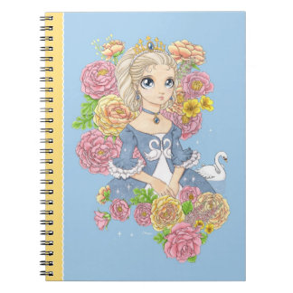 Cuaderno de la princesa del cisne (azul)
