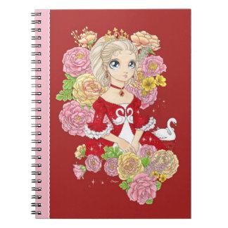 Cuaderno de la princesa del cisne (rojo)