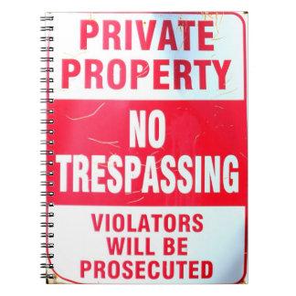 cuaderno de la propiedad privada