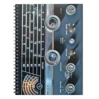 Cuaderno de la radio de la onda corta del vintage