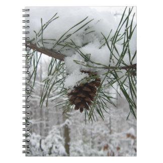 Cuaderno de la rama del pino Nevado