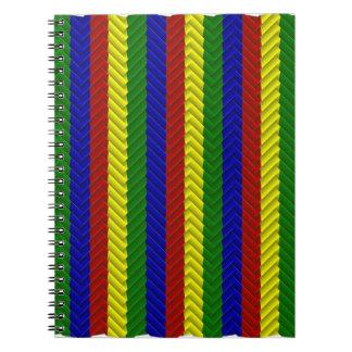 Cuaderno de la raspa de arenque de los colores