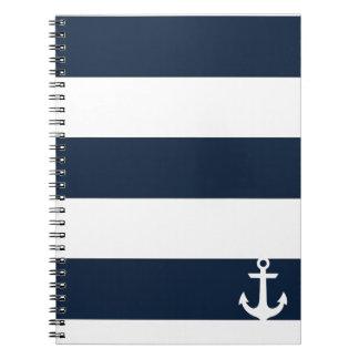 Cuaderno de la raya de la marina de guerra - ancla
