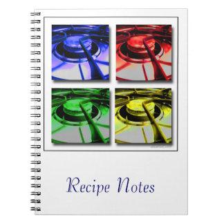 Cuaderno de la receta de Abtract de la estufa de c