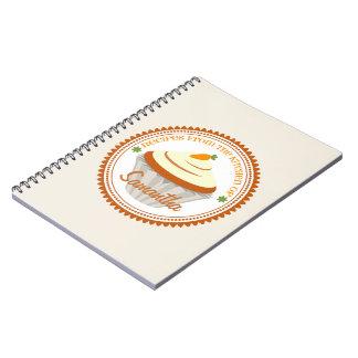 Cuaderno de la receta de la magdalena de la torta