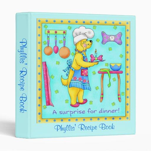 """Cuaderno de la receta del cocinero del perro carpeta 1"""""""