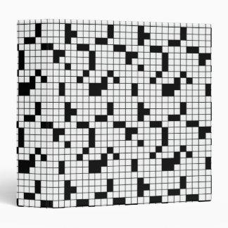 """Cuaderno de la rejilla del crucigrama carpeta 1 1/2"""""""