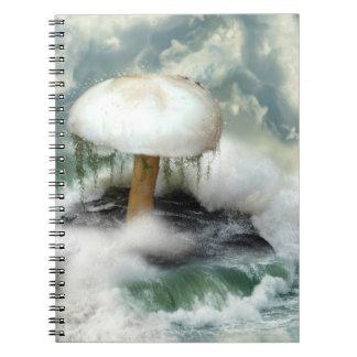Cuaderno de la seta de la magia blanca