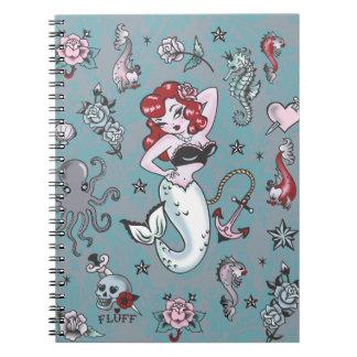 Cuaderno de la sirena de Molly de la pelusa