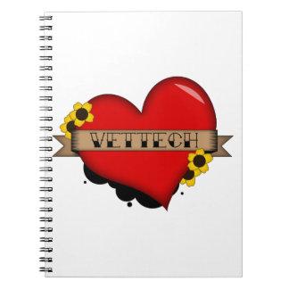 cuaderno de la tecnología del veterinario
