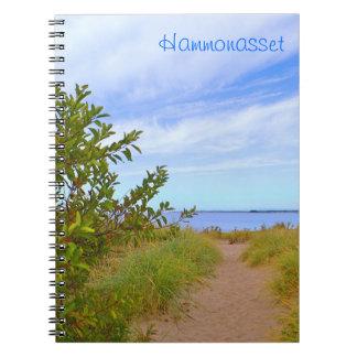 Cuaderno de la trayectoria de la playa