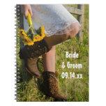 Cuaderno de la vaquera y del boda del país de los