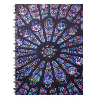Cuaderno de la ventana color de rosa de Notre Dame