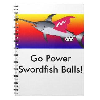 Cuaderno de las bolas de los peces espadas del