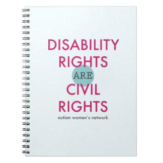 Cuaderno de las derechas de incapacidad
