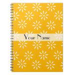 Cuaderno de las flores amarillas y blancas de Cust