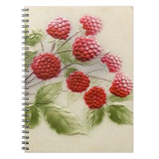 Cuaderno de las frambuesas del vintage