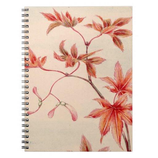 Cuaderno de las hojas de arce