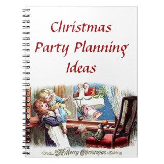 Cuaderno de las ideas del planeamiento de la fiest