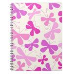 Cuaderno de las mariposas en rosa