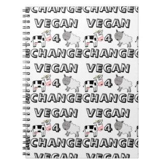 Cuaderno de las ovejas de la vaca del cambio del