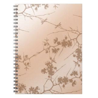Cuaderno de las vides del melocotón que remolina