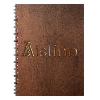 Cuaderno de los Arty de la textura de Brown de la