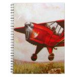 Cuaderno de los aviones del vintage