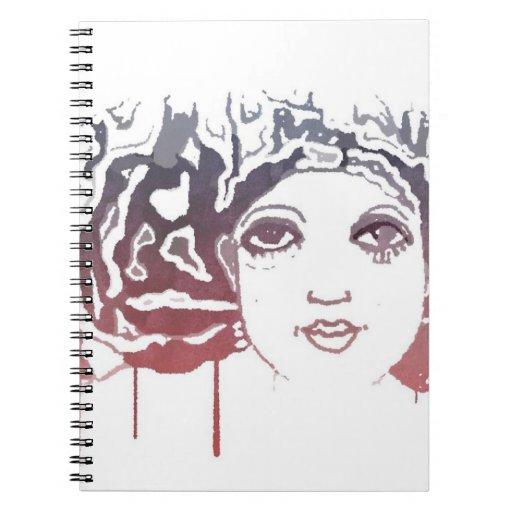 Cuaderno de los colores de agua de la mujer de Zaz