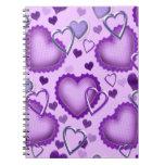 Cuaderno de los corazones púrpuras