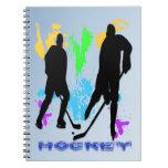 Cuaderno de los jugadores de hockey