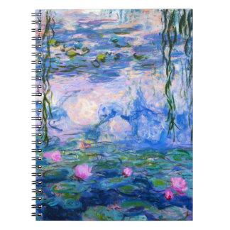 Cuaderno de los lirios de agua de Monet