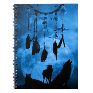 Cuaderno de los lobos de Dreamcatcher