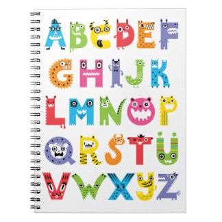 Cuaderno de los monstruos del alfabeto