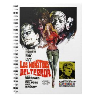 """Cuaderno de """"Los Monstruos Del Terror"""""""