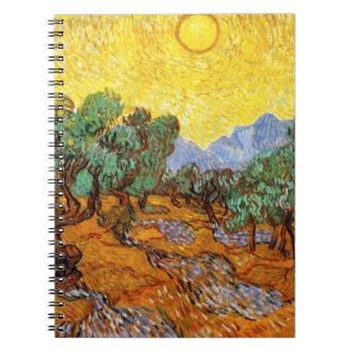 Cuaderno de los olivos de Van Gogh