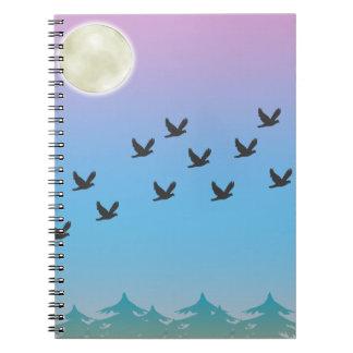 Cuaderno de los pájaros de vuelo