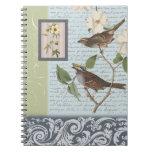 Cuaderno de los pájaros del vintage…