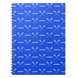 Cuaderno de los palillos de LaCrosse del azul real
