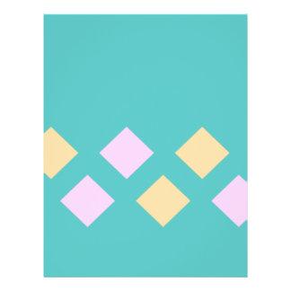 cuaderno de los pasteles del argyle flyer personalizado
