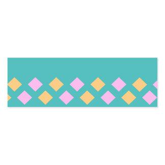 cuaderno de los pasteles del argyle tarjetas de negocios