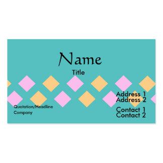 cuaderno de los pasteles del argyle tarjeta de visita