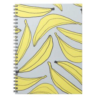 Cuaderno de los plátanos en amarillo