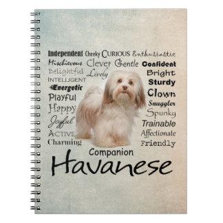 Cuaderno de los rasgos de Havanese