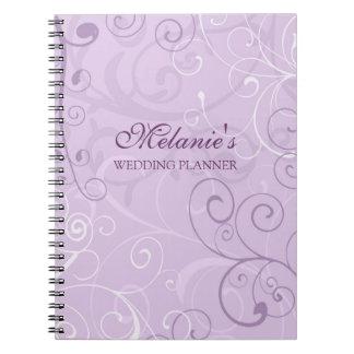 Cuaderno de los remolinos de la lavanda del planif