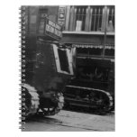 Cuaderno de los tanques de ejército del vintage